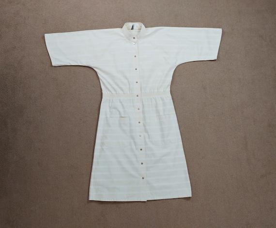 Vintage Vuokko 1970s Cream Striped Kimono Sleeve … - image 3