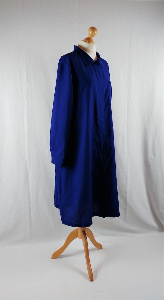 Vintage Vuokko 1980s Cobalt Blue Oversized Cocoon