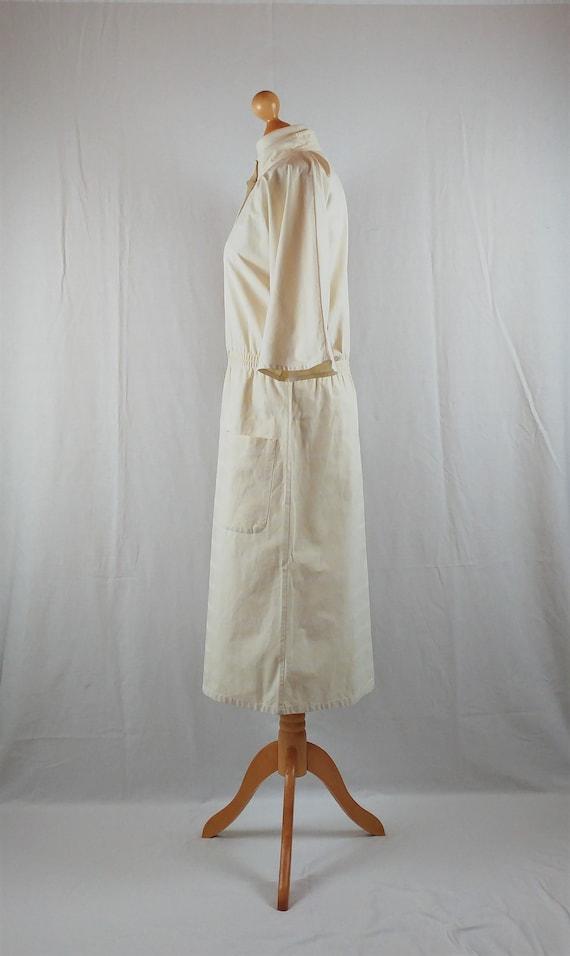 Vintage Vuokko 1970s Cream Striped Kimono Sleeve … - image 8