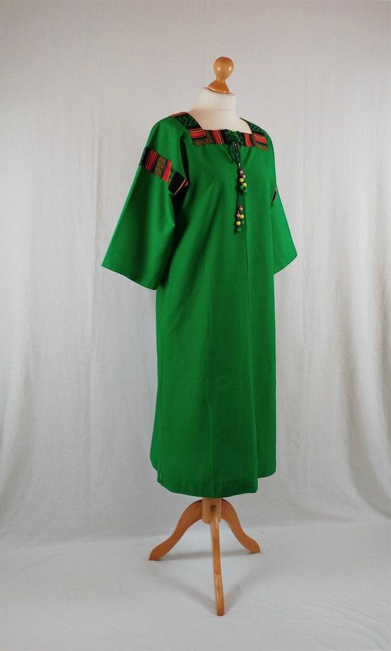 Finnish Vintage Arola 1970s 'Anu' Apple Green Kimo