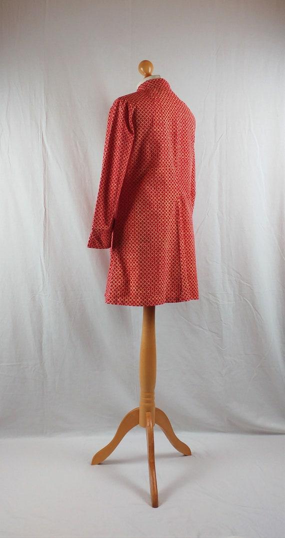 Vintage Vuokko 1960s Red Geometric Mod Tunic - image 8