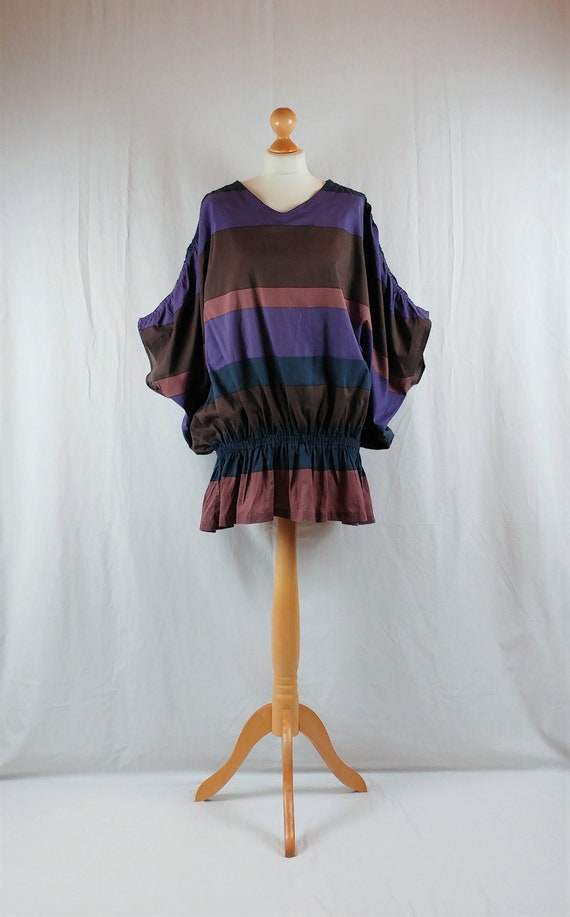 Vintage Marimekko 1980s Oversized Colour Block Tun