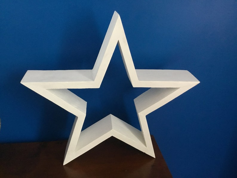 White Wood Star Decoration Wooden Stars Star Wood Wall Star Deco Star To Hang Star Palette Star Wall Star Deco