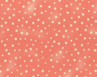 almond green and peach pink stripes 100/% cotton patchwork fabric very lowly nuanced REF PECHE Fat quarter sold