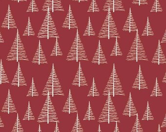 Christmas trees red st4496404 patchwork fabric