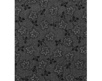 tessuto patchwork foglie grigio ref 12011161