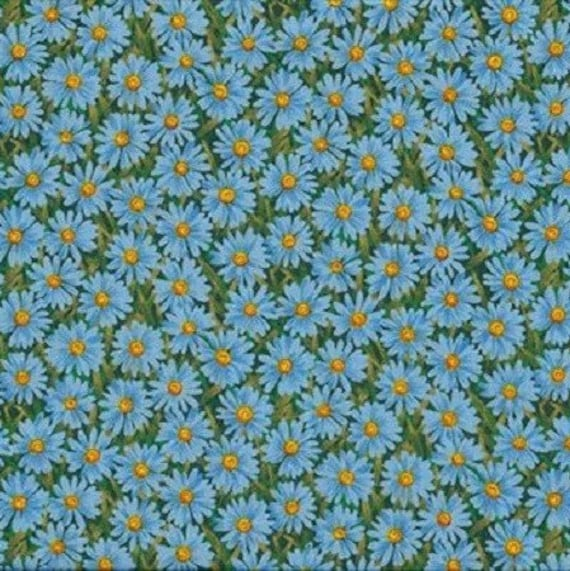 110cm width Daisies 5 sizes 100/% cotton print Red