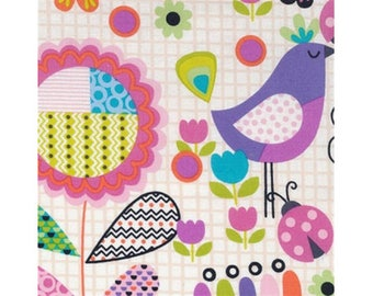 100% cotton patchwork fabric, birds