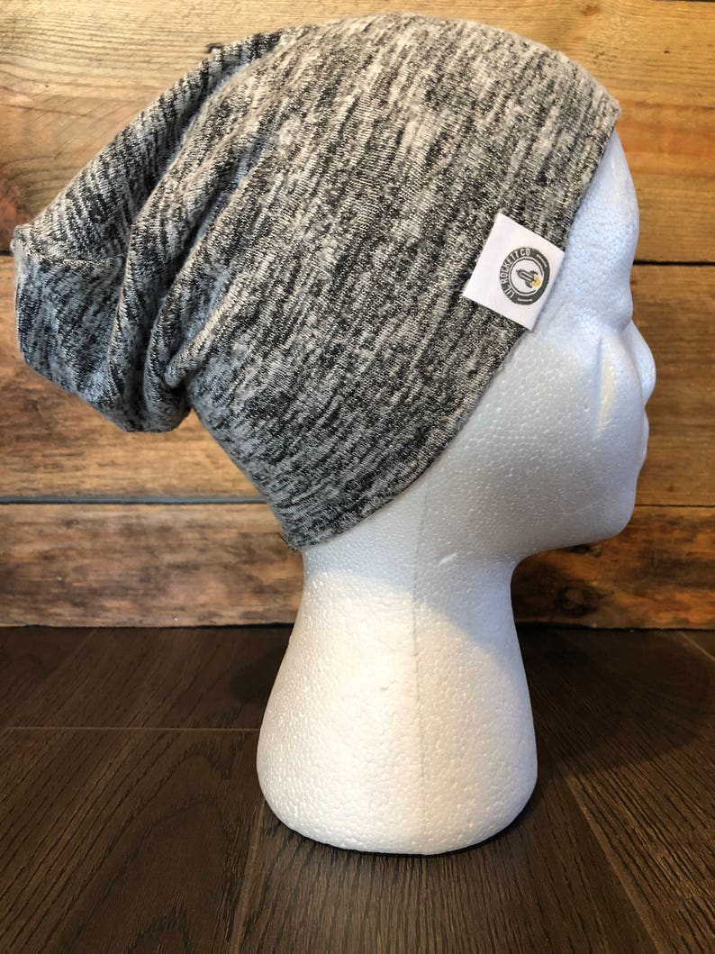 7d3e04dce46 Slouch Beanie in Black Marble for Kids Lightweight Slouchy