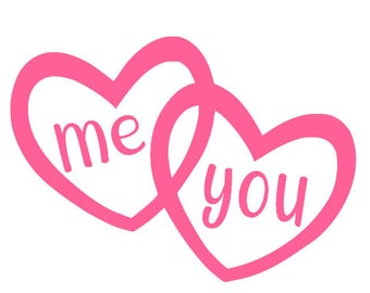 Me and You Heart Decal