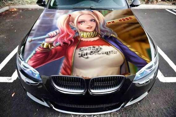 Car Truck Hood Graphics Harley Quinn With Bat Vinyl Decal