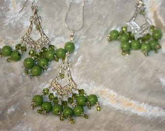 chain necklace and earrings