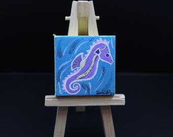 Miniature Seahorse Painting