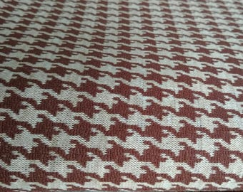 Authentic Vintage Houndstooth Fabric from Halle Brother's Department Store