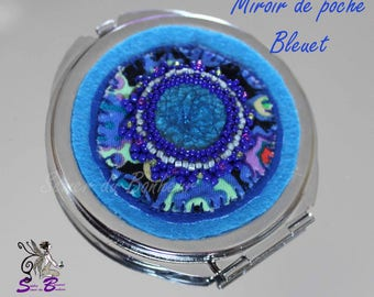 Cornflower blue Pocket mirror