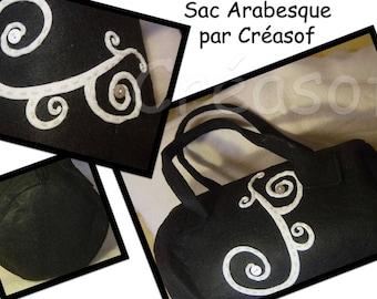 Black felt pelochon bag customized