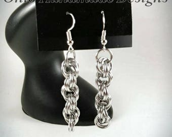 Chainmaille Spiral Earrings