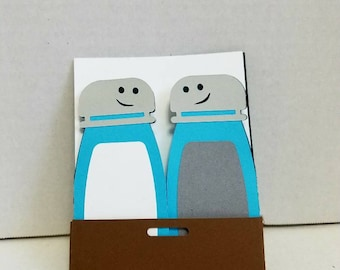 Handmade greeting card. This is a best friend or for you significant other. We go together like salt and pepper. This is a fun card.
