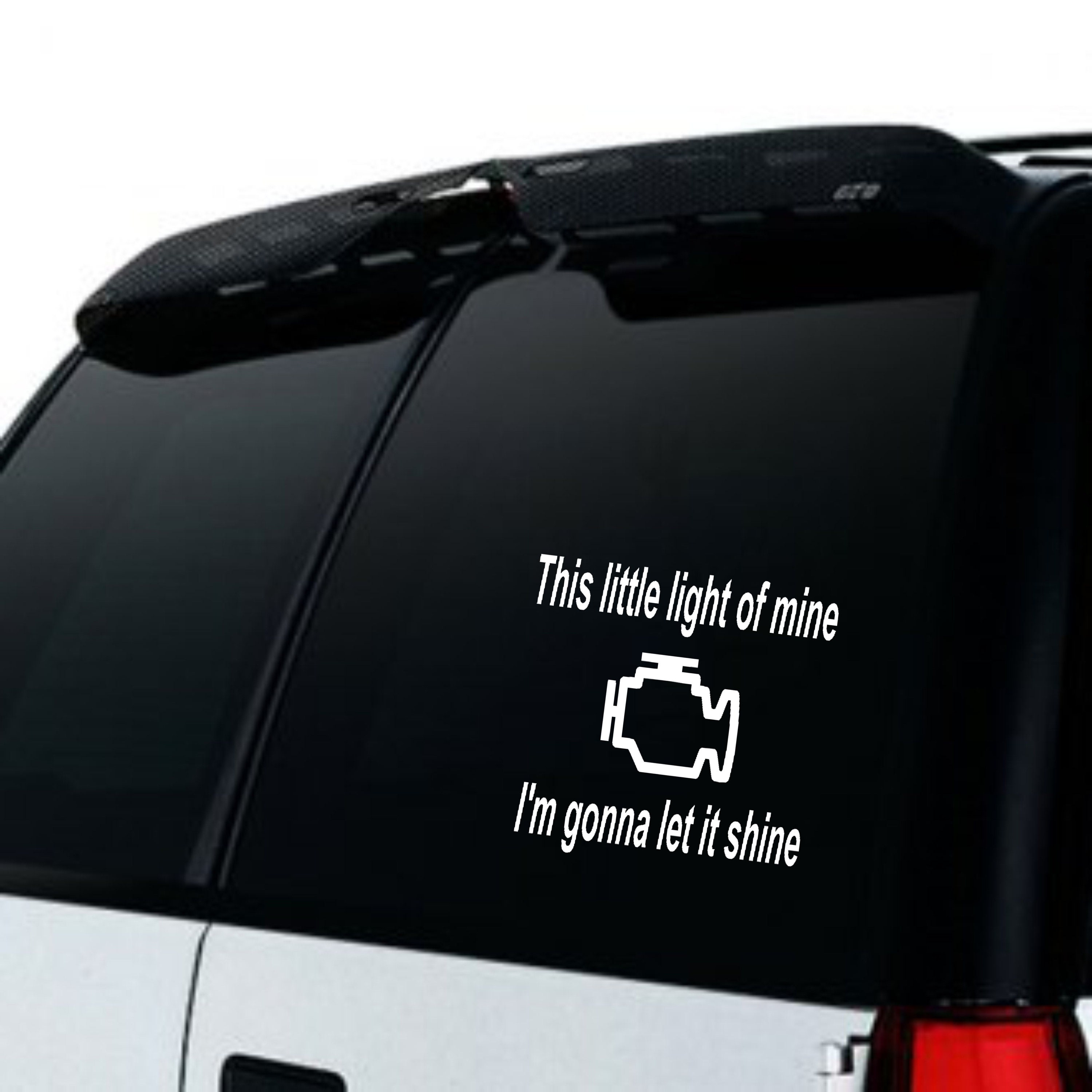 Check Engine Light Funny Car Decal Funny Car Window Decal