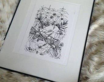 Busy Bee Print