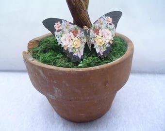 """Butterfly"" wooden hair clip"