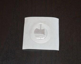 25 Pieces | Mifare Ultralight – NFC Transparent Label (Wet Inlay) (48 bytes)
