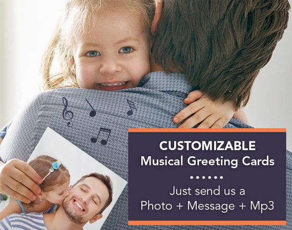 Personalized cards with custom music custom greeting cards etsy image 0 m4hsunfo