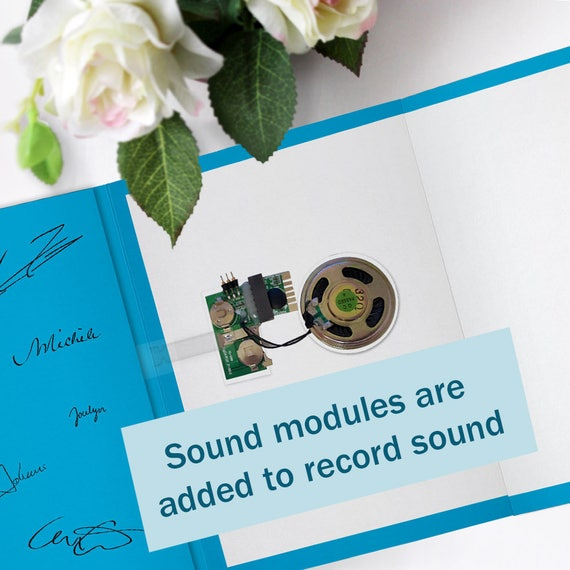 Recordable greeting card voice recording cards recordable etsy 50 m4hsunfo