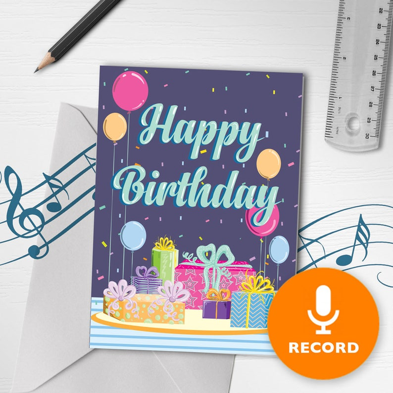 Happy Birthday Card With Music Musical
