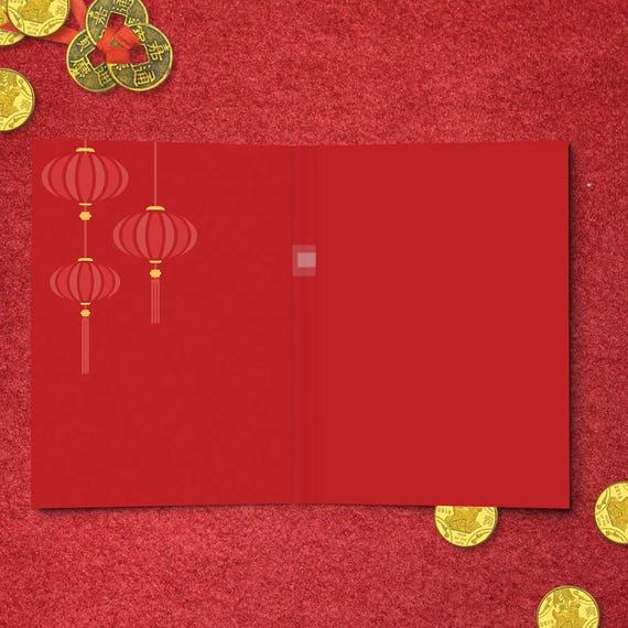 Chinesisches Neujahr musikalische Grußkarte Frohes neues | Etsy