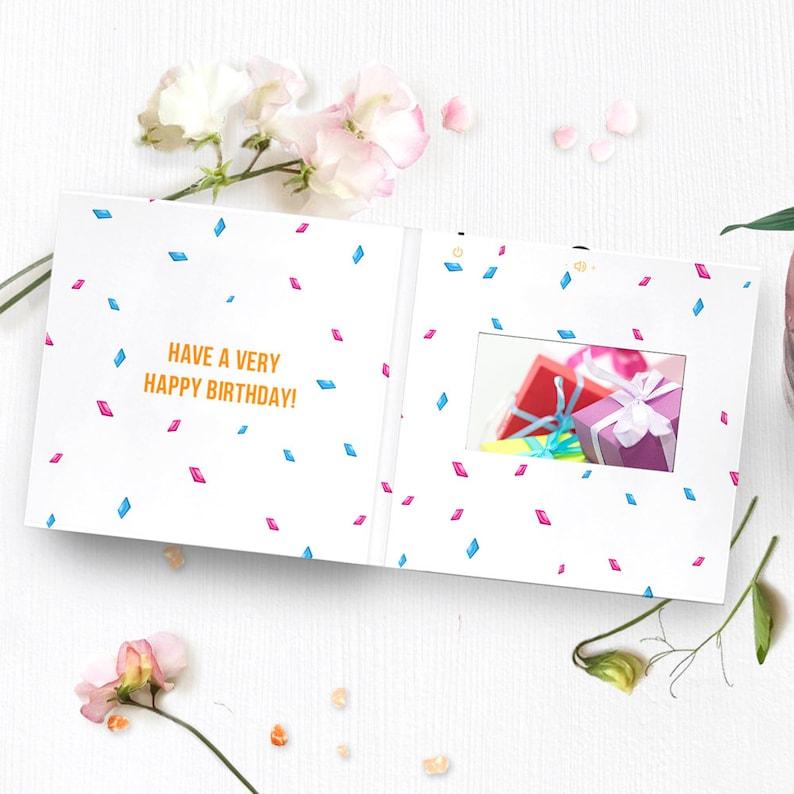 Birthday Greeting Card Personalized Birthday Card 00054 Happy Birthday Card With Video Screen Custom Birthday Card