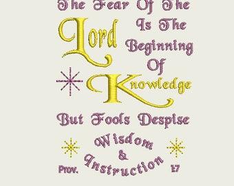 Proverbs 1 7 | Etsy