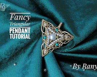Intermediate wire wrapping PDF tutorial /Fancy Triangular Pendant Tutorial by Ranyi