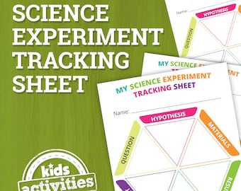 Science Experiment Tracking Results Pages for Kids