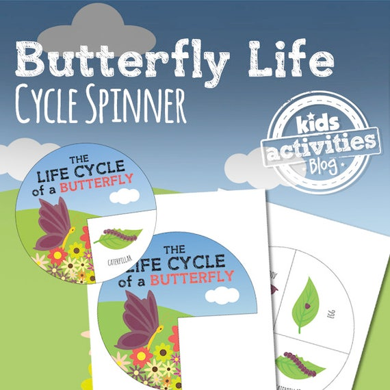Butterfly Life Cycle Spinner STEM Printable Craft Activity