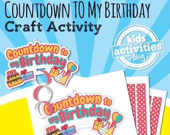 Birthday Countdown Craft Activity for Kids - A Printable Craft for Kids
