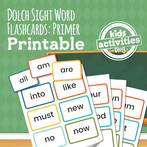 photograph about Sight Word Flashcards Printable titled Dolch Sight Phrase Flashcards - Primer Checklist - Preschool Printable Activity