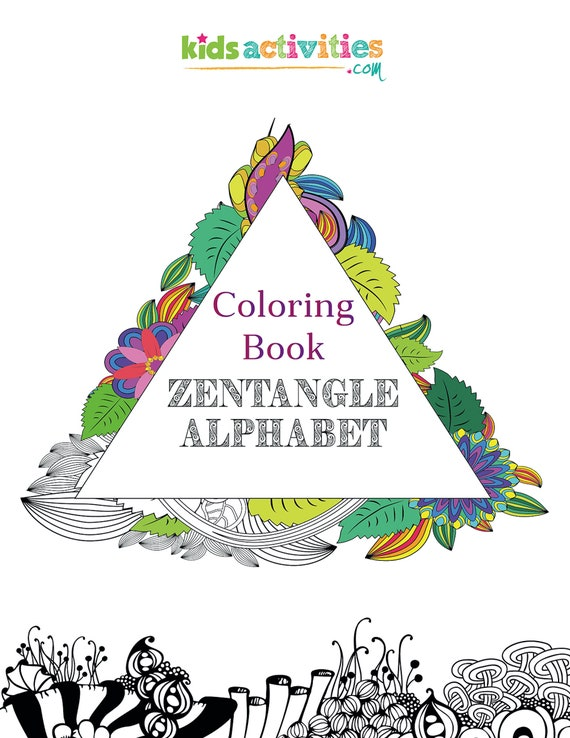 - Alphabet Coloring Pages Zentangle Coloring Book For Adults Etsy