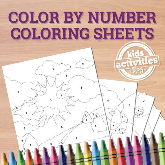 Printable Color By Number Coloring Pages Preschool Worksheets Etsy