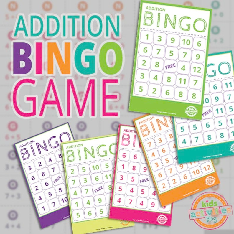 photo about Addition Bingo Printable called Addition BINGO Printable Math Activity