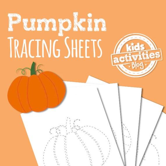 Pumpkin Tracing Sheets  Preschool Printable Worksheets for