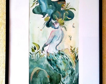 Green and Gold Mermaid