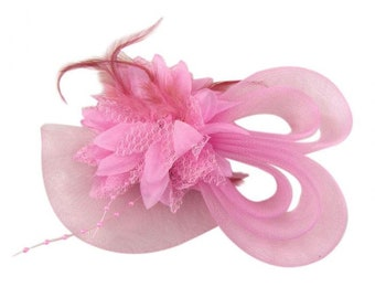 Pink Lolita FASCINATOR fascinate hat derby hearts