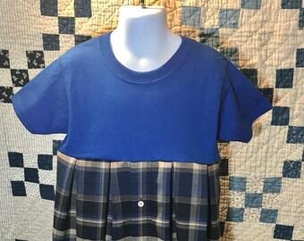 Size 4/5 T blue plaid dress