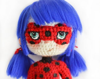 Amigurumi doll in ladybug costume | Crochet ladybug, Ladybug ... | 270x340