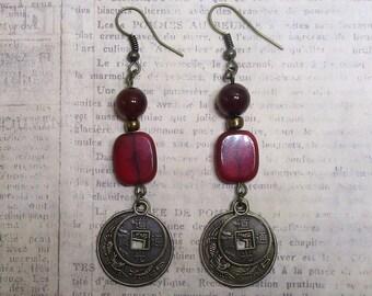 lucky coin earrings