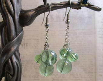 white grape earrings