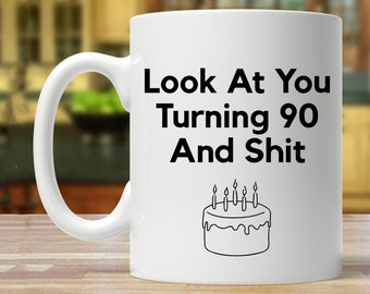 90th Birthday Gift Party Ideas Present Mug Funny 90 Year Old Years Mugs