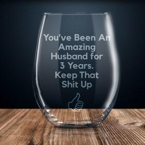 funny anniversary gift men 10th anniversary gift for him ten year anniversary wine glass 10 year anniversary gift for husband