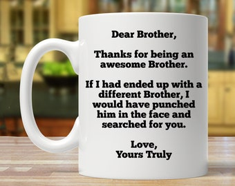 personalized brother gift ideas funny gift for brother gift for brother birthday gift for brother brother gifts brother gift coffee cup